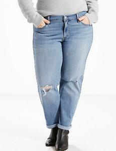 Levi's Plus-size Light Wash Boyfriend Jeans