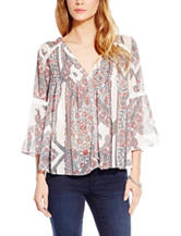 Jessica Simpson Plus-size Floral Print Peasant Top