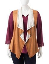 Jessica Simpson Plus-size Reversible Faux Suede Vest