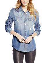 Jessica Simpson Plus-size Chambray Top