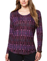 Chaps Plus-size Ikat Print Top