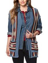 Chaps Plus-size Striped Print Sweater Vest