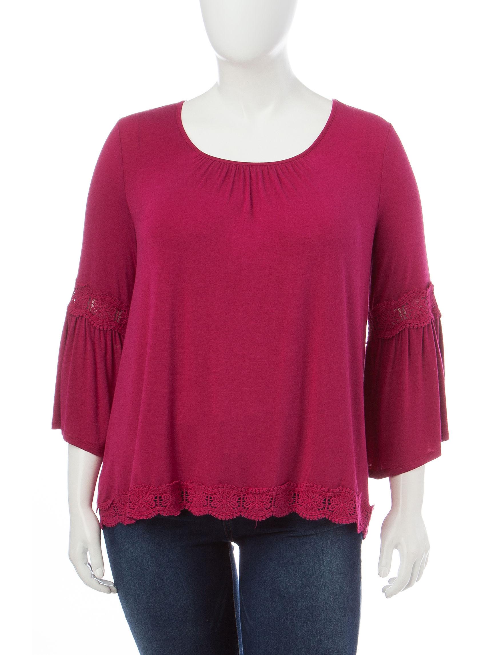 Hannah Purple Shirts & Blouses