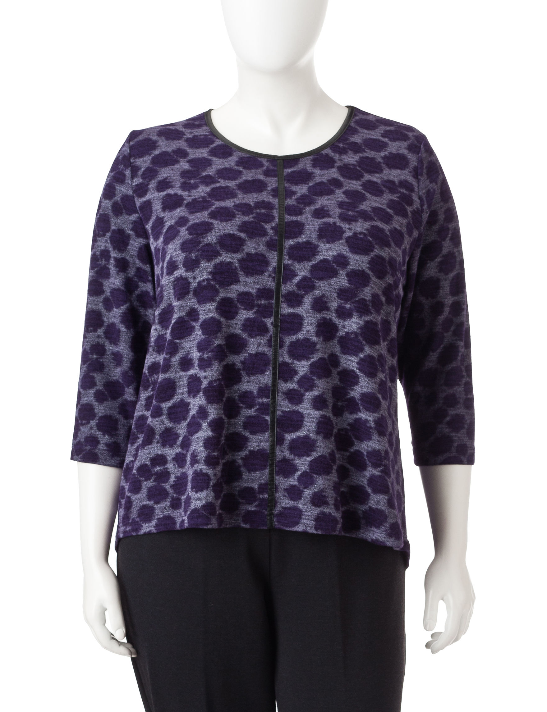 Cathy Daniels Purple Pull-overs Sweaters