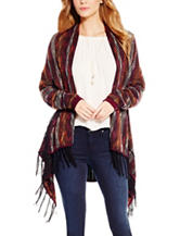 Jessica Simpson Plus-size Fringe Trim Cardigan