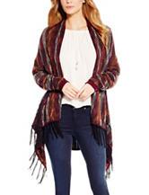 Jessica Simpson Plus-size Fringe Trim Cardigan