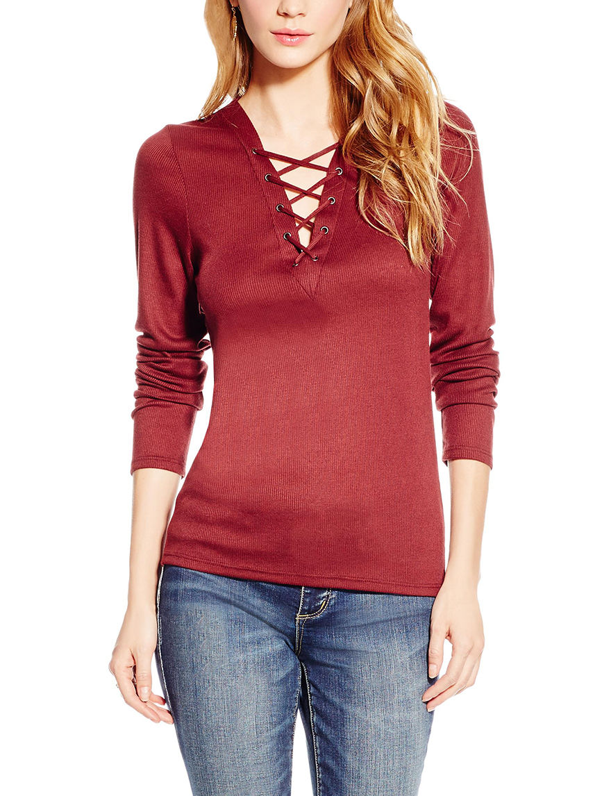 Jessica Simpson Red Shirts & Blouses