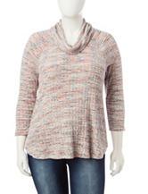 Signature Studio Plus-size Marled Knit Top