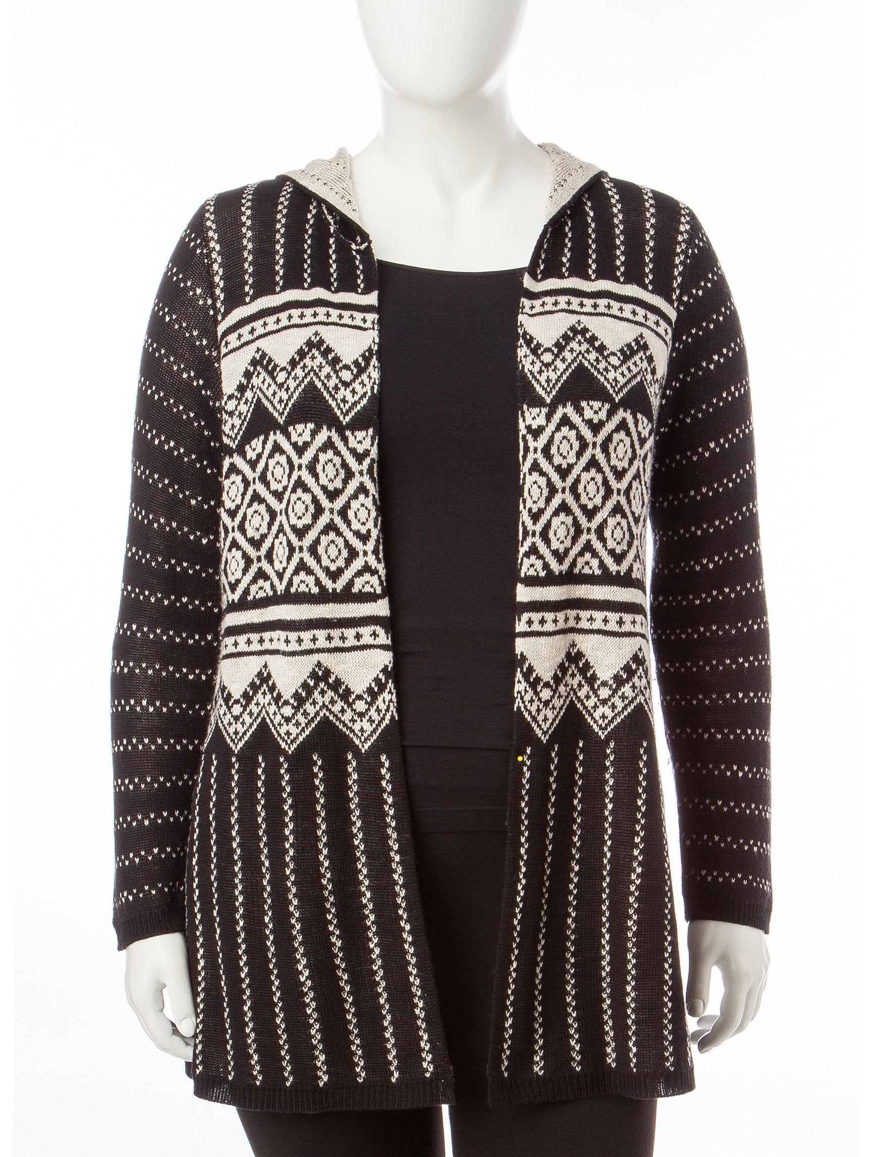 Energe Black Cardigans Sweaters