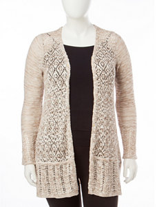 Energé Plus-size Spacedye Knit Cardigan