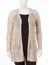Energé Plus-size Spacedye Knit Cardigan
