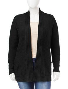 Fresh Plus-size Ribbed Cardigan