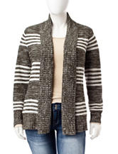 Fresh Plus-size Striped Cardigan