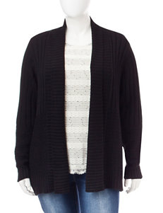 Fresh Plus-size Mixed Stitched Cardigan