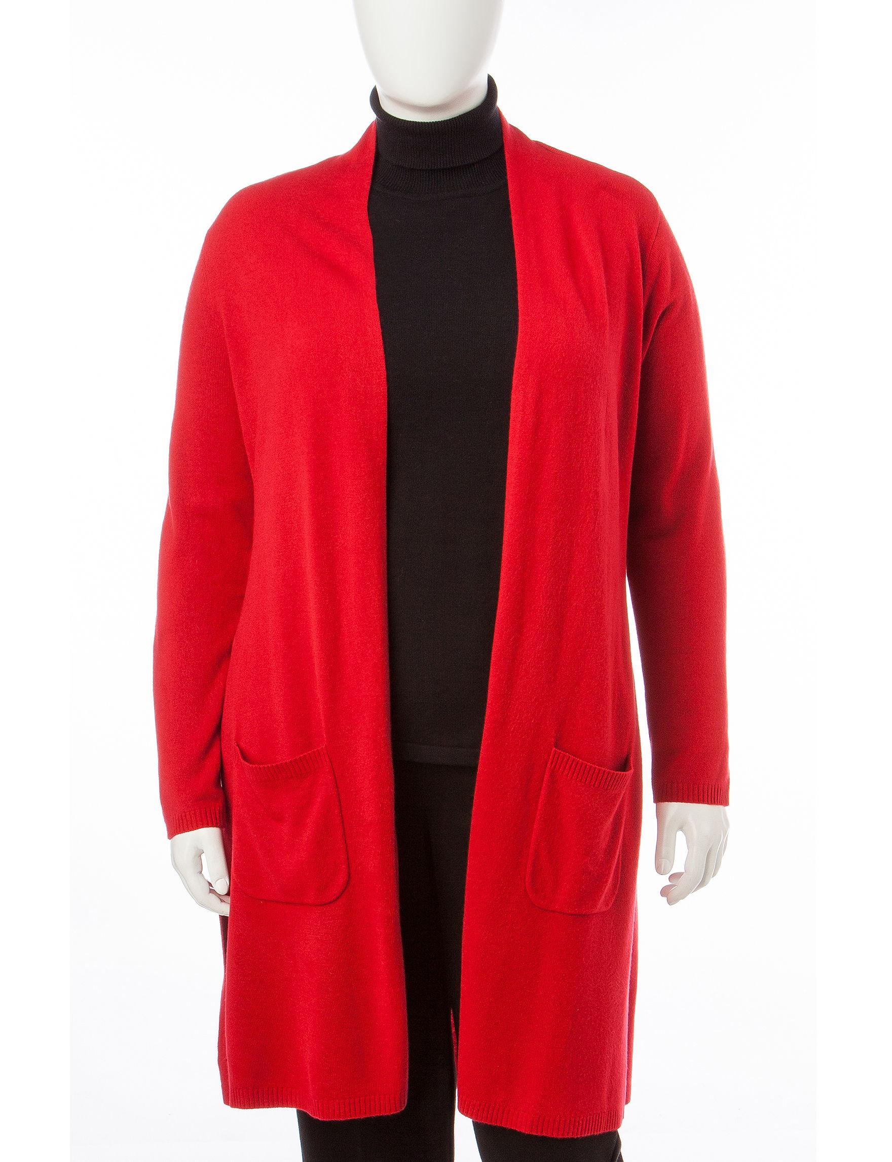 Rebecca Malone Red Cardigans Sweaters
