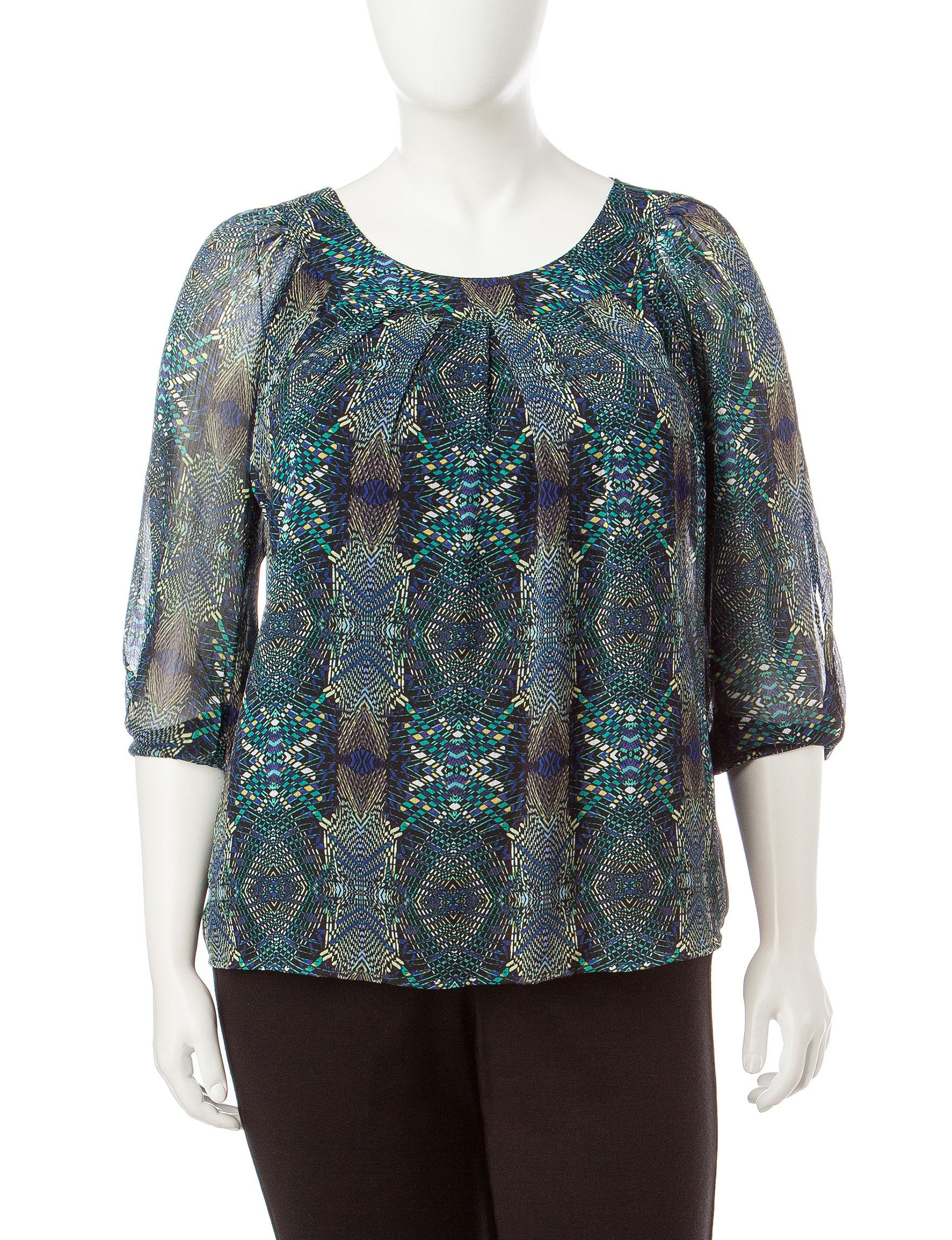 Rebecca Malone Teal Shirts & Blouses