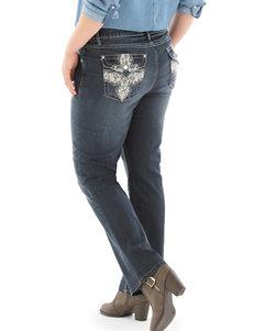 Earl Jean Plus-size Bling Bootcut Jeans
