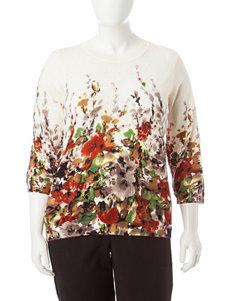 Rebecca Malone Plus-size Floral Print Sweater