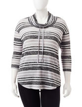 Signature Studio Plus-size Stripe Print Top