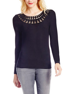Jessica Simpson Plus-size Crochet Trim Top