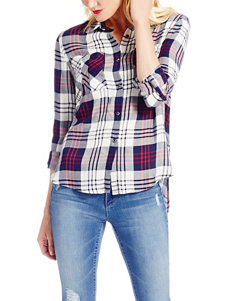 Jessica Simpson Plus-size Plaid Print Top
