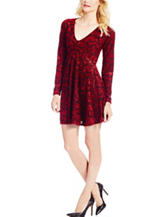 Jessica Simpson Plus-size Damask Skater Dress