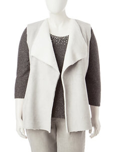 Ruby Rd. Plus-size Faux Shearling Vest