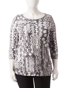 Ruby Road Plus-size Abstract Print Top