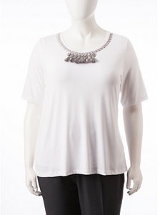 Ruby Road Plus-size Embellished Knit Top