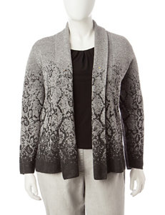 Ruby Road Plus-size Ombre Snake Print Cardigan