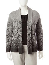 Ruby Rd. Plus-size Ombre Snake Print Cardigan