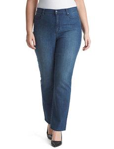 Gloria Vanderbilt Plus-size Amanda Flora Bling Jeans