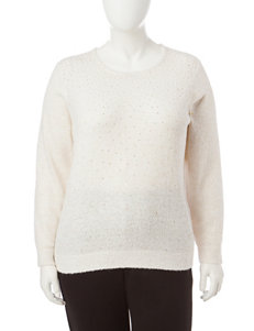 Cathy Daniels Plus-size Jeweled Accent Sweater