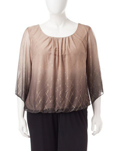 Rebecca Malone Plus-size Gold Glitter Top