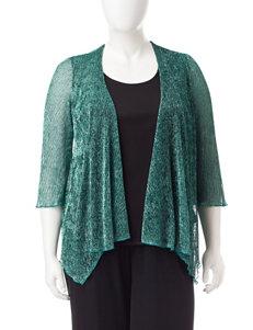 Rebecca Malone Plus-size Metallic Layered-Look Top