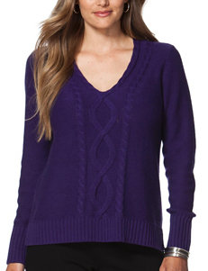 Chaps Purple Pull-overs