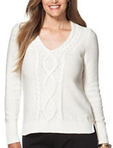 Chaps Plus-size Cable Knit Sweater
