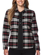 Chaps Plus-size Plaid Print Top