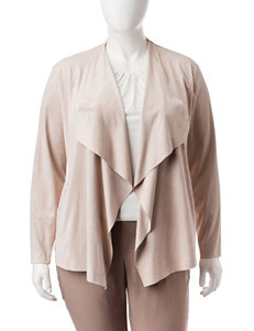 Ruby Road Plus-size Faux Suede Cardigan
