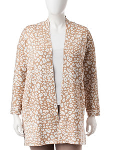 Ruby Road Plus-size Animal Print Cardigan