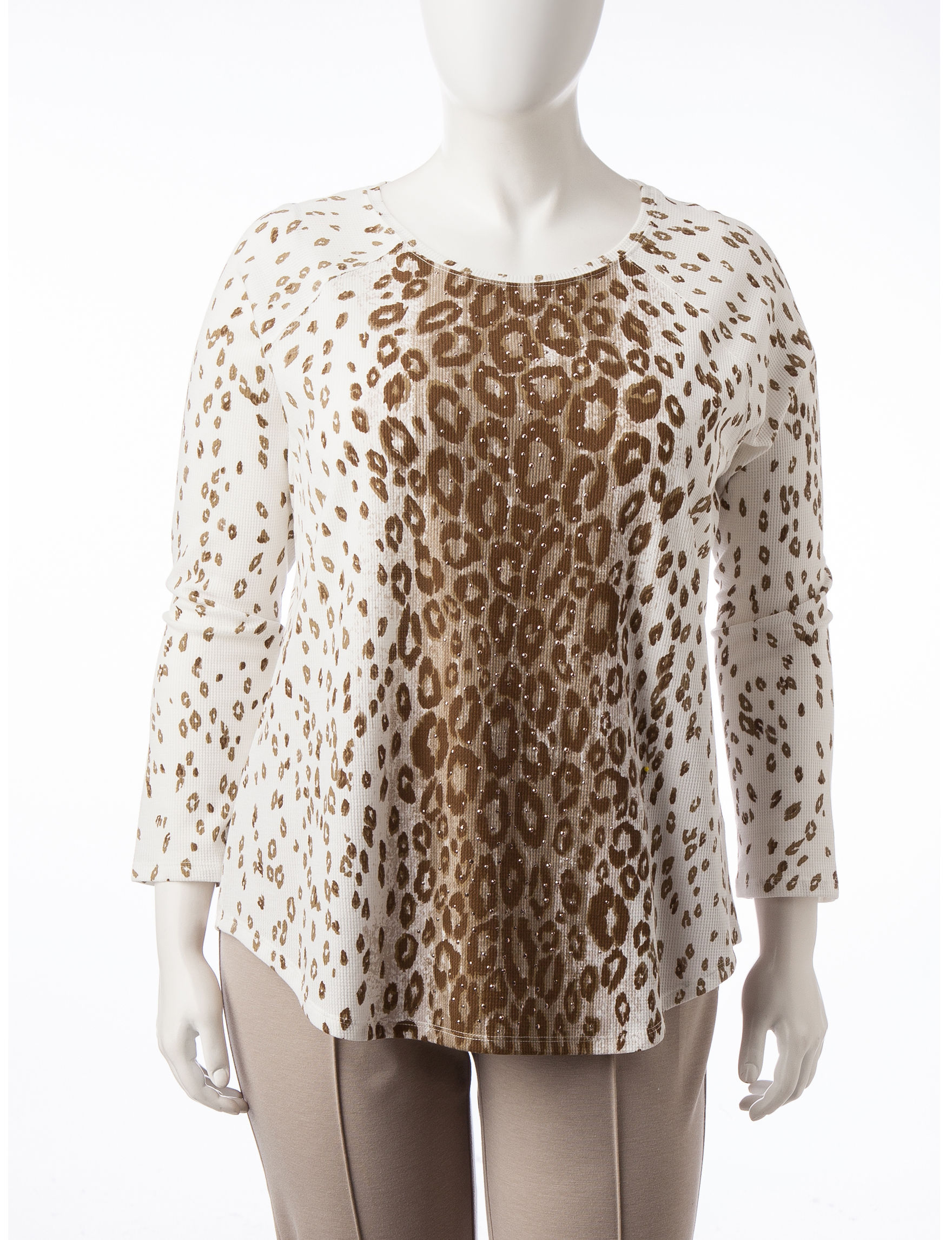 Ruby Road Beige Shirts & Blouses Sweaters