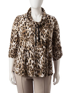 Ruby Road Plus-size Leopard Print Top