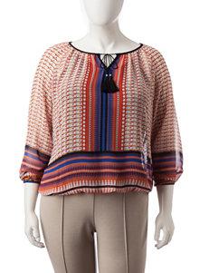 Zac & Rachel Black / Orange Shirts & Blouses