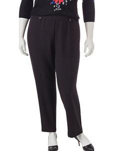 Cathy Daniels Plus-size Black Pants