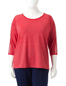 Cathy Daniels Red / Silver / White Shirts & Blouses