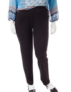 Zac & Rachel Plus-size Pull On Ponte Pants