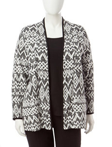 Rebecca Malone Plus-size Abstract Print Layered-Look Top