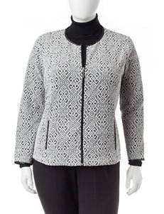 Rebecca Malone Plus-size Abstract Print Jacket