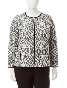 Rebecca Malone Plus-size Tribal Print Jacket