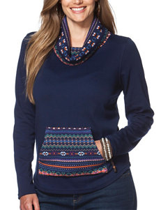 Chaps Plus-size Fair Isle Print Pull-Over Sweater